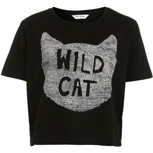 Miss Selfridge Tops - WILD CAT cropped tee